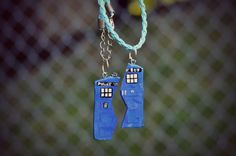 Tardis Friendship Necklaces by StellarForms on Etsy, $22.00