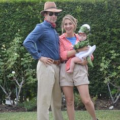 Pin for Later: Your Favorite Bloggers' Halloween Costumes Are Their Best #OOTDs Jurassic Park Tickets ready.