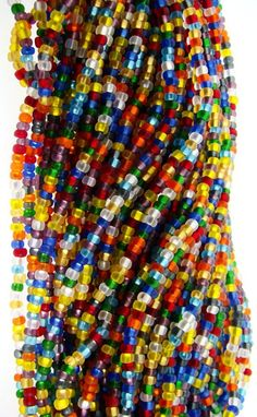 Bijou. South Africa. Yellow. Red. Blue. White. Beads