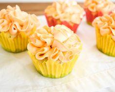 Basil Cupcakes with Grapefruit Icing —