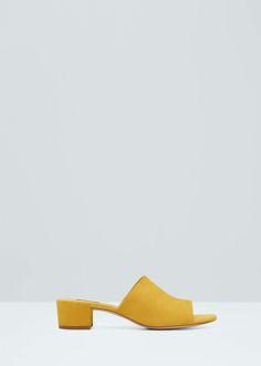 Destructured leather sandals   MANGO