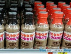 Dunkin' Donuts Bottled Iced Coffee (Espresso and Original) Yummy! Coffee Cafe, Iced Coffee, Coffee Drinks, Craving Coffee, Starbucks Bottles, Fast Food Reviews, Dunkin Donuts Coffee, Coffee Creamer, Frappuccino