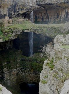 "waterfall discovered | ... Cave of the Three Bridges"" Baatara Gorge Waterfall 