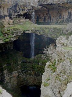 "waterfall discovered | ... Cave of the Three Bridges"" Baatara Gorge Waterfall | Drunk Astronaut"