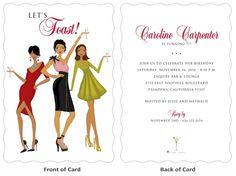 Trio Toast Birthday Invitation   Storkie.com