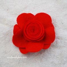 How to make a felt flower. Great for hair clips!