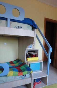 Κρεβάτι-κουκέτα και γραφείο σε χρώμα δρυς από Laminate Egger έπιπλα Καφρίτσας Αρης Bunk Beds, Furniture, Home Decor, Decoration Home, Double Bunk Beds, Room Decor, Home Furnishings, Bunk Bed, Arredamento