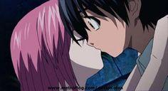 Kiss Elfen lied Kouta and Lucy