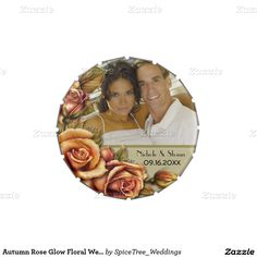 Autumn Rose Glow Floral Wedding - Add Photo Candy Tins