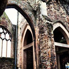 Abandoned castle. Castle Park, Bristol