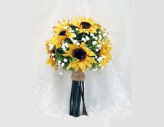 Sunflower Toss Bouquet Small Made to Order Nosegay by SouthcastleCreations on Etsy https://www.etsy.com/listing/265030064/sunflower-toss-bouquet-small-made-to