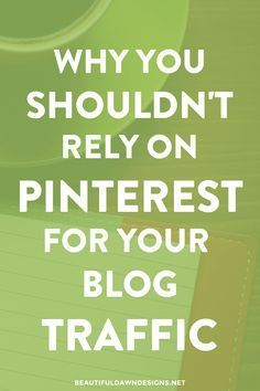 You don't want to rely solely on Pinterest for your blog traffic. In this post I'll share why it's important to diversify your traffic sources. #bloggingtips #blogging #pinterest #pinteresttips
