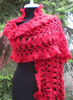 Beautiful Hairpin lace crochet shawl!