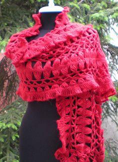 Beautiful Hairpin lace crochet shawl!