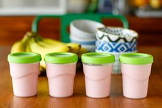 Easy Smoothie Recipe -- an effective morning routine for my family starts with me, and this simple smoothie recipe starts my day off right! Freeze the extra to pack in kids' lunches, thaws by lunchtime and keeps them cold in the meantime.