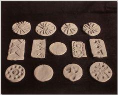 Gift #20, kindergarten clay-work, albumen photograph, Boston 1899. Norman Brosterman kindergarten collection.
