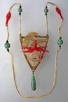 Art Nouveau Fuschia Pendant by Elizabeth Bonte. Circa 1900