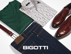 Strike the balance between pieces - plain and prints, vivid and neutral colours - to create a successful outfit! Take advantage of our end of season discounts and complete your wardrobe with your favourite items - in stores and on www.bigotti.ro! #Bigottiromania #Romania #smartcasual #mensfashion #menswear #mensclothing #mensstyle #ootdmen #ootd #moda #barbati #stilmasculin #mixandmatch #prints #uni Mens Wardrobe Essentials, Men's Wardrobe, Casual Office, Smart Casual, Mens Attire, Stylish Men, Neutral Colors, Men's Shoes, Indigo
