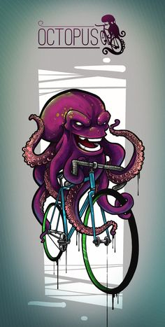 octopus by Dimka DesH, via Behance