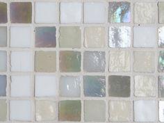 Rustiek glasmozaïek wit / gebroken wit Pearl 16x16 mm