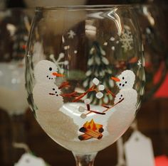 Snowmen roasting Marshmallows  - Too cute