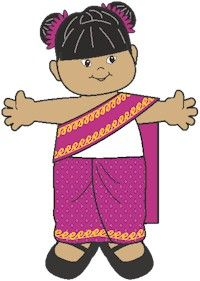 Paper dolls from around the world.  This link goes directly to the doll for Thailand.
