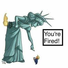Make America great again - We Impeach Trump ( Tiny Trump, Trump You, Political Satire, Political Cartoons, Liberty Statue, Religion, Trump Cartoons, History, Caricatures
