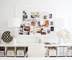 Aha, this is what my (tiny) home office is missing. A paper pinterest :) Home Offices with Style: Inspiring Inspiration Boards via Apartment Therapy