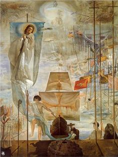 """""""The Discovery of America by Christopher Columbus"""" by Salvador Dali. On display at The Dali museum in St. Petersburg, FL"""