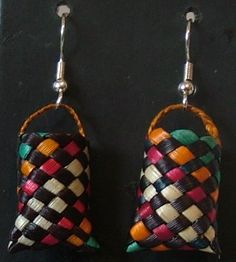Maori Kete (basket) earrings