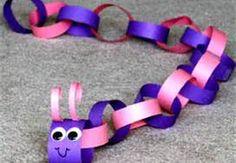 caterpillar...construction paper crafts