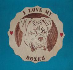I Love My Boxer Scroll Saw Plaque by huebysscrollsawart on Etsy, $20.00