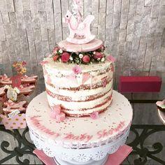 Semi-naked cake for baby shower