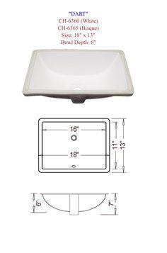 Dart: Undermount Porcelain Vanity Sink