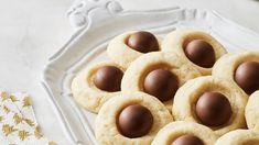 Lindor Gingerbread Thumbprint Cookies via Lindt The Season.