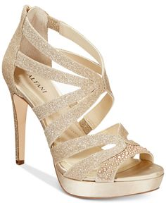 Alfani Women's Cymball Caged Platform Evening Sandals, Only at Macy's
