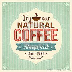 Cartel del café del vintage con efectos del grunge
