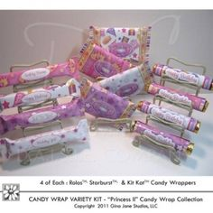 Princess Birthday Party Theme - Do it yourself, DIY Printable Princess Candy Bar Wrappers for Hershey Rolos, Kit Kat Bars,  and Starburst Candy Wrappers - Gina Jane Designs - DAISIE Company