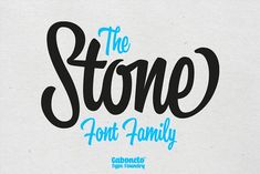 The Stone Font Family by gabriel.ruiz on @creativemarket