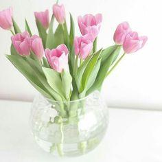 Beach House Decor, Home Decor, Bouquet, Pink Tulips, Pretty Pictures, Planting Flowers, Beautiful Flowers, Dandelion, Glass Vase