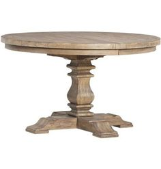 Avondale Round Dining Table, has leaf and extends to oval (seats 308386 Ft I would get a piece of glass cut for the top. Extension Dining Table, Table, Oval Table Dining, Dining Room Table, Kitchen Flooring, Kitchen Mats Floor, Home Decor, Dining, Dining Table