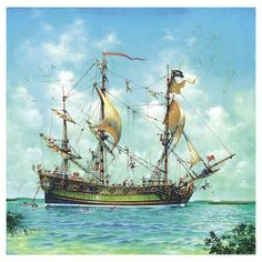 Pirate Ship Paintings | pirate ship paintings