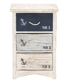 Look what I found on #zulily! Three-Drawer Nautical Chest by UMA Enterprises #zulilyfinds