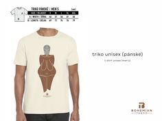 Tričko Bohemian Taboo s motivem Věstonické Venuše (ilustrace Tvzex) / T-shirt with Venus from Vestonice (illustration by Tvzex) Venus, Bohemian, Sexy, Illustration, Mens Tops, T Shirt, Fashion, Moda, Tee Shirt