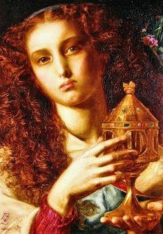 King Pelle's Daughter by Frederick Sandys, 1861