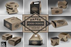 VOL.1 Food Box Packaging MockUps by INCDesign on @creativemarket