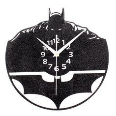 Hoy con el 24% de descuento. Llévalo por solo $68,500.Forma del reloj de pared de la calidad creativa Vinilo CD Discografía Batman.