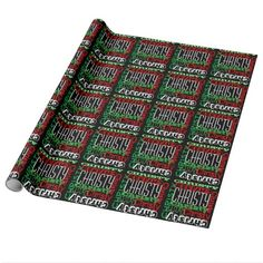 Custom Personalized Name Kids Christmas Gift Wrap Wrapping Paper. Use any name, instant online preview!