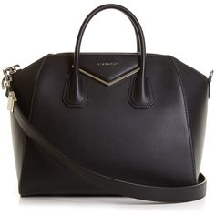 8763af9ddac7 Givenchy Antigona medium leather tote ($2,475) ❤ liked on Polyvore  featuring bags, handbags, tote bags, black, leather purses, genuine leather  purse, ...