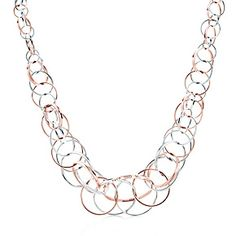 I WANT THIS!! - Tiffany 1837™ interlocking circles necklace in RUBEDO™ metal and silver.